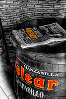 Newspaper On A Barrel